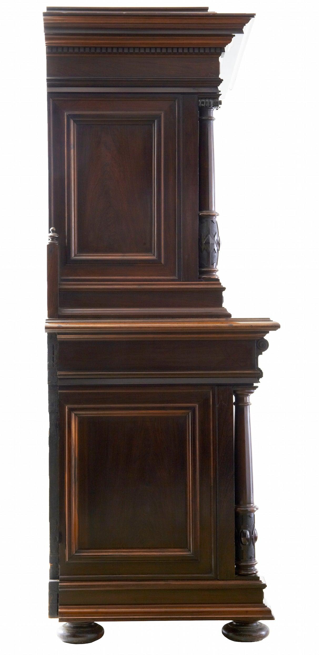 Walnut 19th Century Italian Rosewood Baroque Style Cupboard For Sale