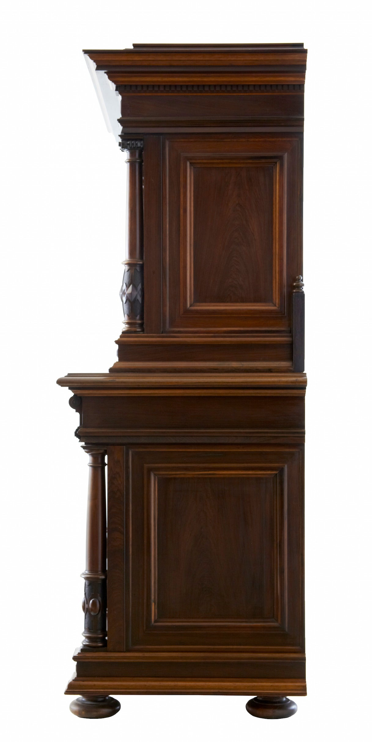 19th Century Italian Rosewood Baroque Style Cupboard For Sale 2