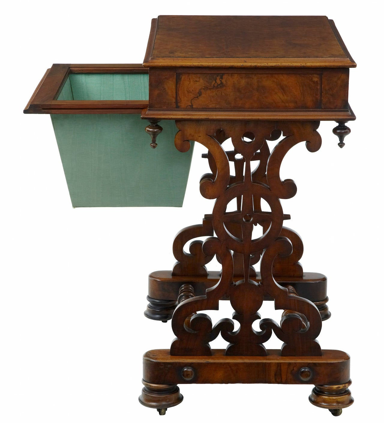 Great Britain (UK) 19th Century Walnut Work Occasional Table For Sale