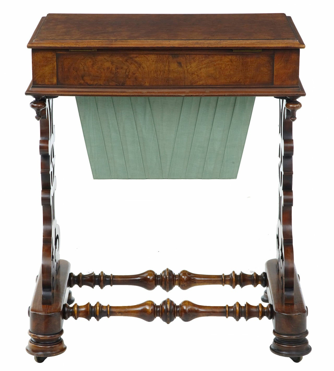 Woodwork 19th Century Walnut Work Occasional Table For Sale