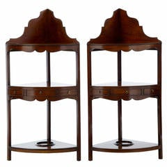 Pair of 19th Century Georgian Influenced Mahogany Washstands