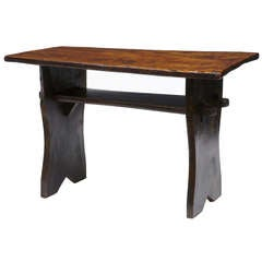 19th Century Oak Elm Small Tavern Rustic Side Table