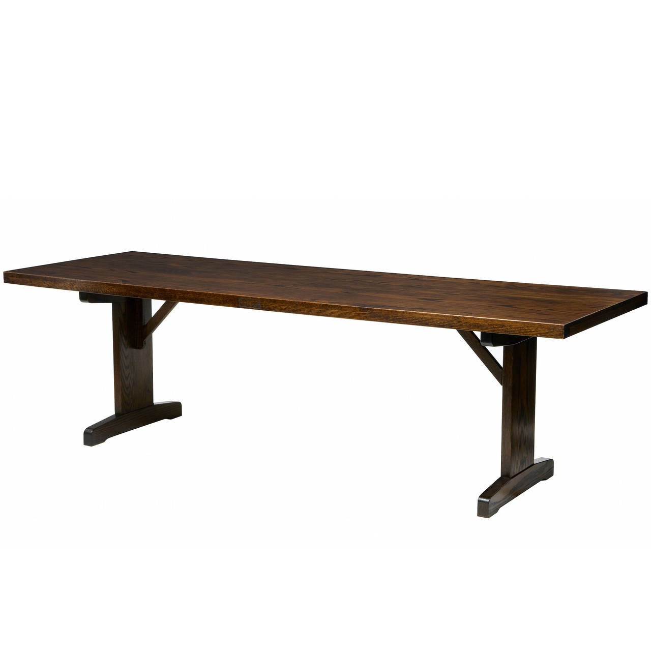 Large 1960s Oak Refectory Trestle Dining Table at 1stdibs : EA454TABLE0885l from www.1stdibs.com size 1280 x 1280 jpeg 44kB