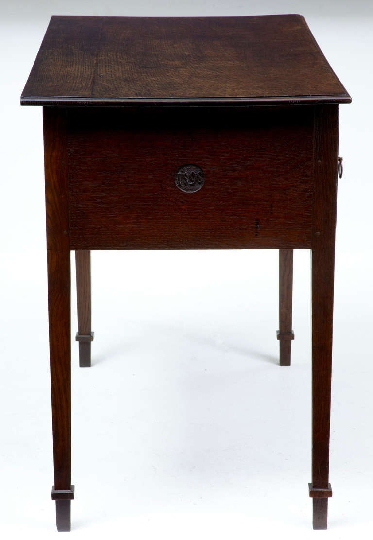 Small Antique Writing Desks ~ Th century antique oak small desk writing table dated at
