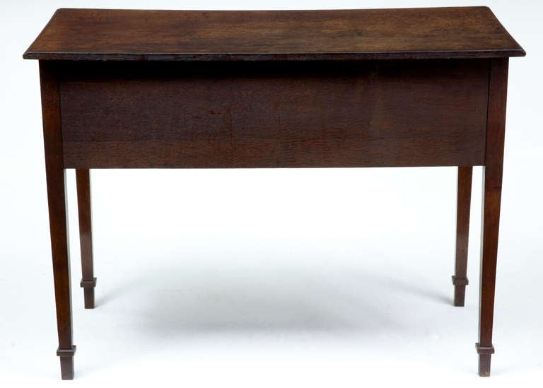 Th century antique oak small desk writing table dated at
