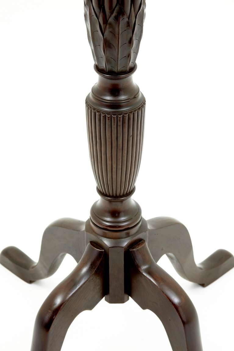 Victorian antique mahogany carved fluted pedestal for sale for Fluted pedestal base
