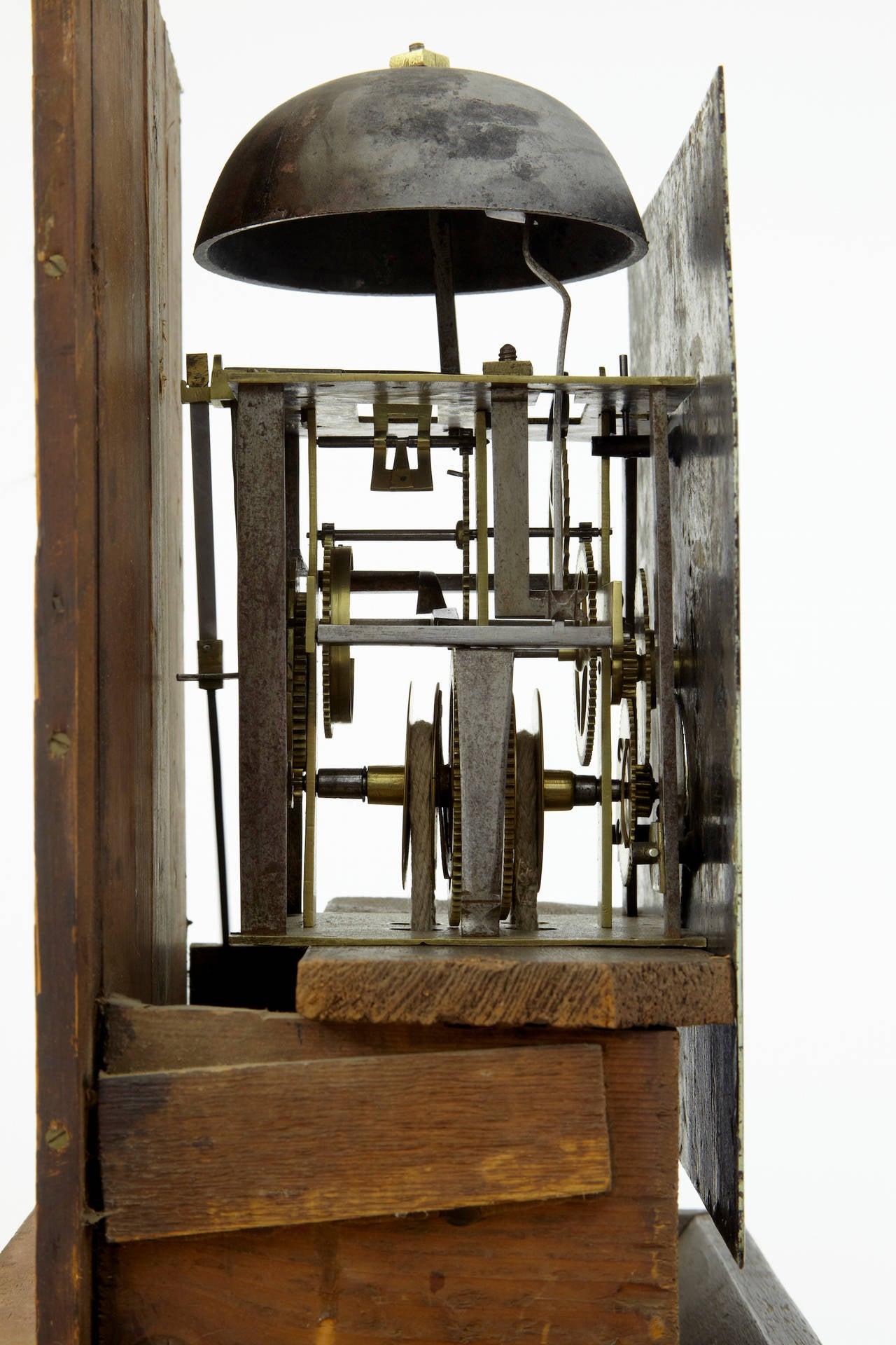Wall Mounted Grandfather Clock 18th Century Oak Longcase Grandfather Clock At 1stdibs
