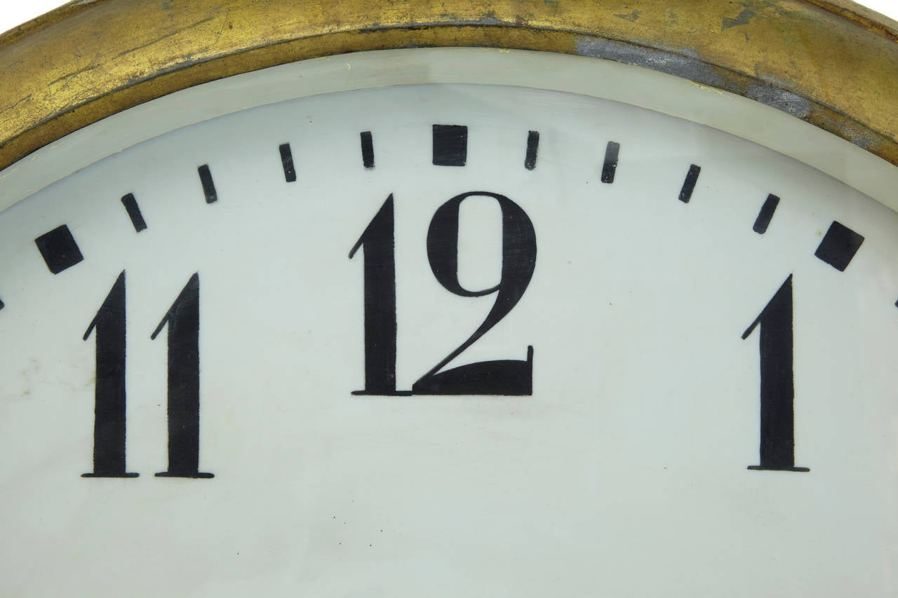 Hand-Crafted Unique Early 20th Century Tole Oversized Street Clock For Sale