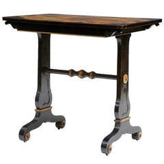Rare Regency Calamander and Specimen Wood Sofa Table