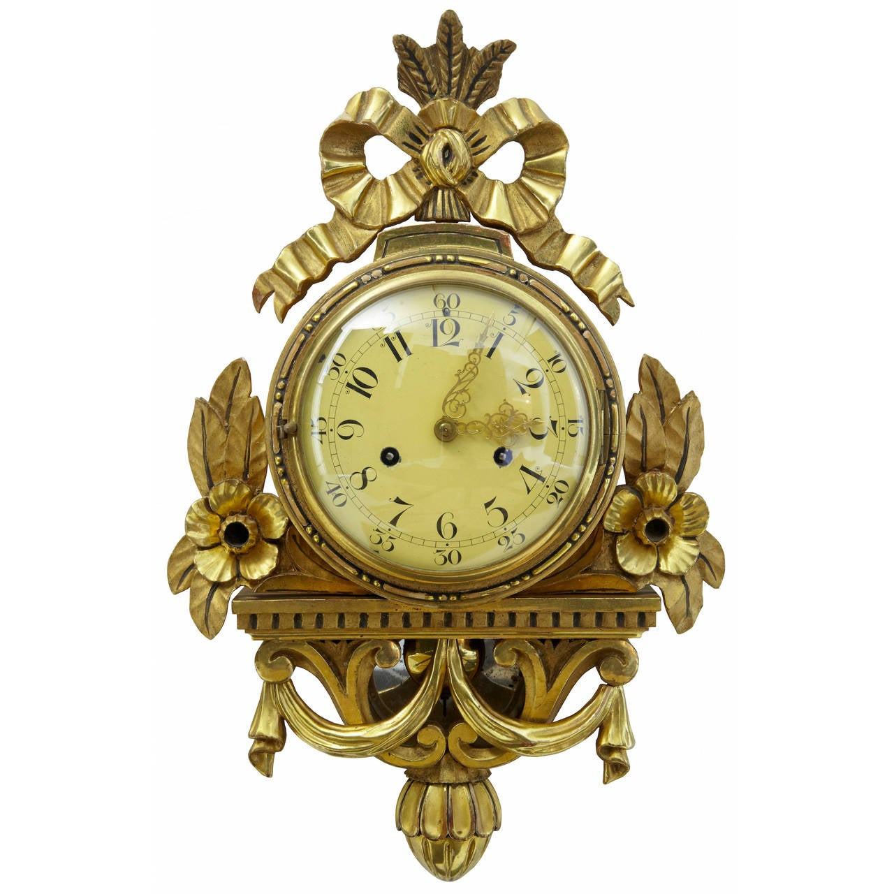 Th century swedish carved wood gilt wall clock at stdibs
