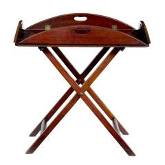 19th Century Dropside Butlers Tray On Stand Circa 1820