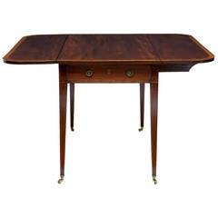 Early 19th Century Mahogany Crossbanded Pembroke Table