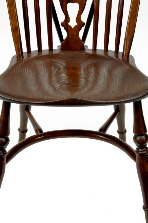 set of 8 ash and elm windsor dining chairs at 1stdibs