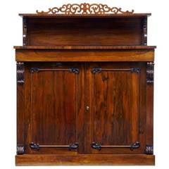 Regency 19th Century Rosewood Chiffonier Sideboard