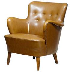 20th Century Leather Club Armchair
