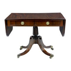 19TH CENTURY ENGLISH MAHOGANY SOFA TABLE