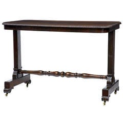 19th Century Regency Rosewood Writing Library Table