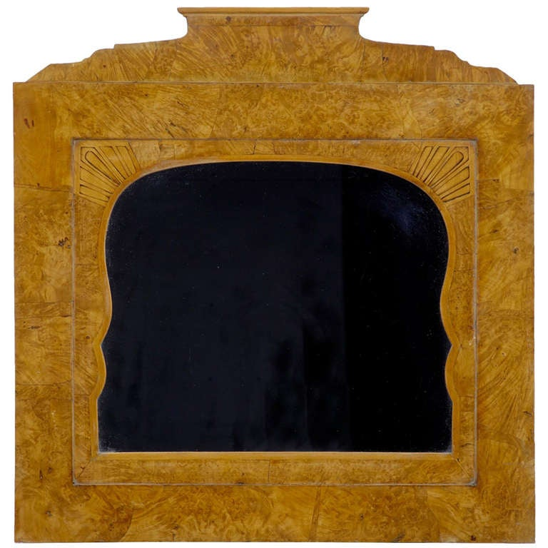 19th Century Russian Root Birch Overmantel Mirror
