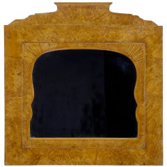 19th Century Russian Root Birch Overmantel Mirror