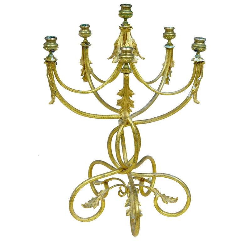 19th Century French Ormolu Six Candle Candelabra
