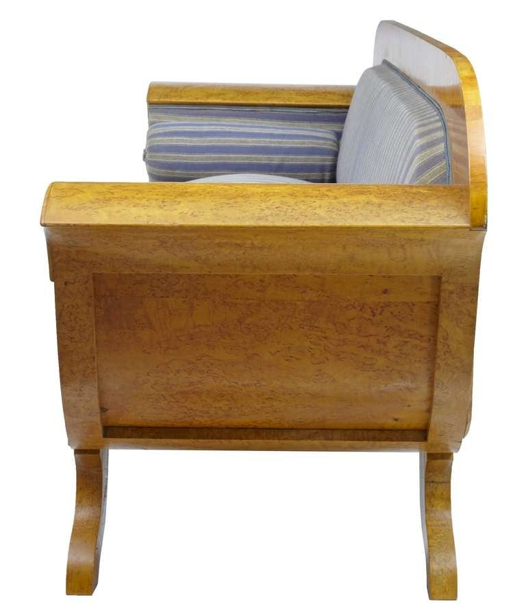 Massive 19th Century Biedermeier Birch Sofa Settee At 1stdibs