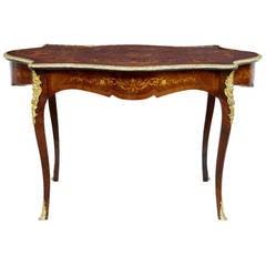 19th Century French Inlaid Mahogany Kingwood Center Table