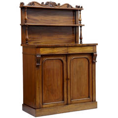 Early Victorian French Mahogany Chiffionier Sideboard