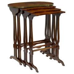 19th Century Mahogany Nest Of 4 Tables
