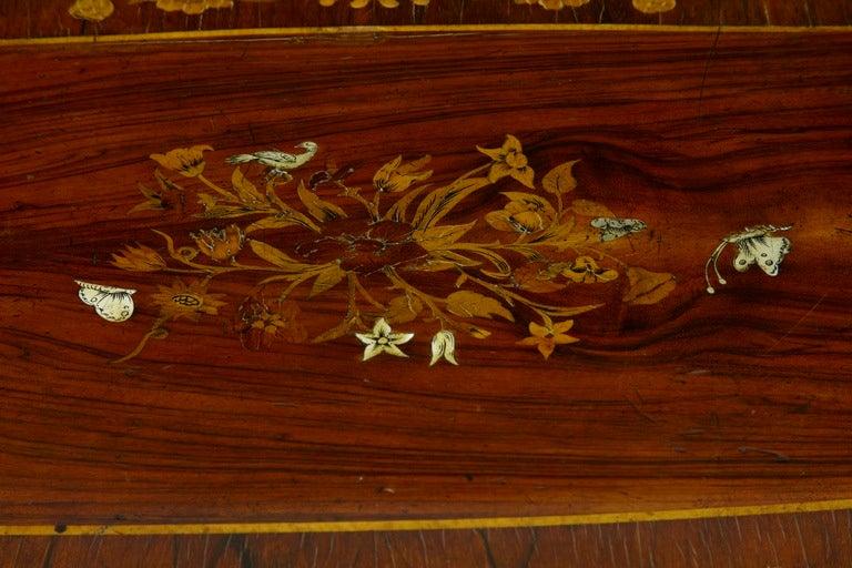 19th Century Antique Serpentine Inlaid Rosewood Center Table 7