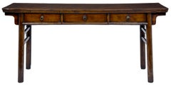 19th Century Antique Fruitwood Dresser Base With 3 Drawers