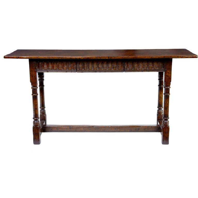 Fluted carved oak side table with 1 drawer at 1stdibs for 1 oak nyc table prices