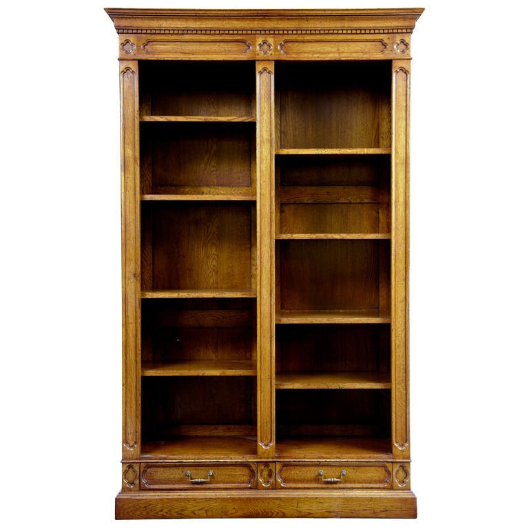 Quality Oak Bookcase At 1stdibs