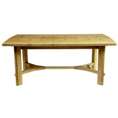 Oak Arts And Crafts Style Extending Dining Table
