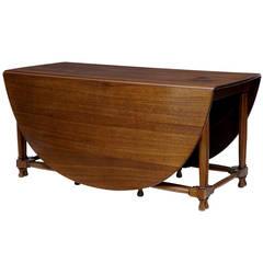 Large, 1920s Mahogany Gateleg Dining Table