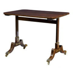 Regency Brass Inlaid Rosewood Occasional Side Table