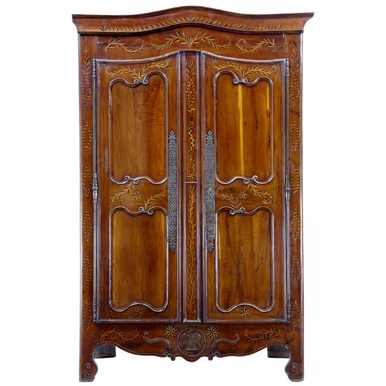 Early 18th Century French Yew Wood and Chestnut Armoire
