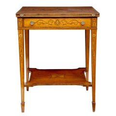 19th Century Antique Satinwood Envelope Card Table