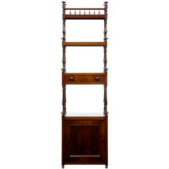 19th Century Antique Mahogany Whatnot With Cupboard