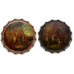 A Pair Of Rare Russian Antique Decorative Trays