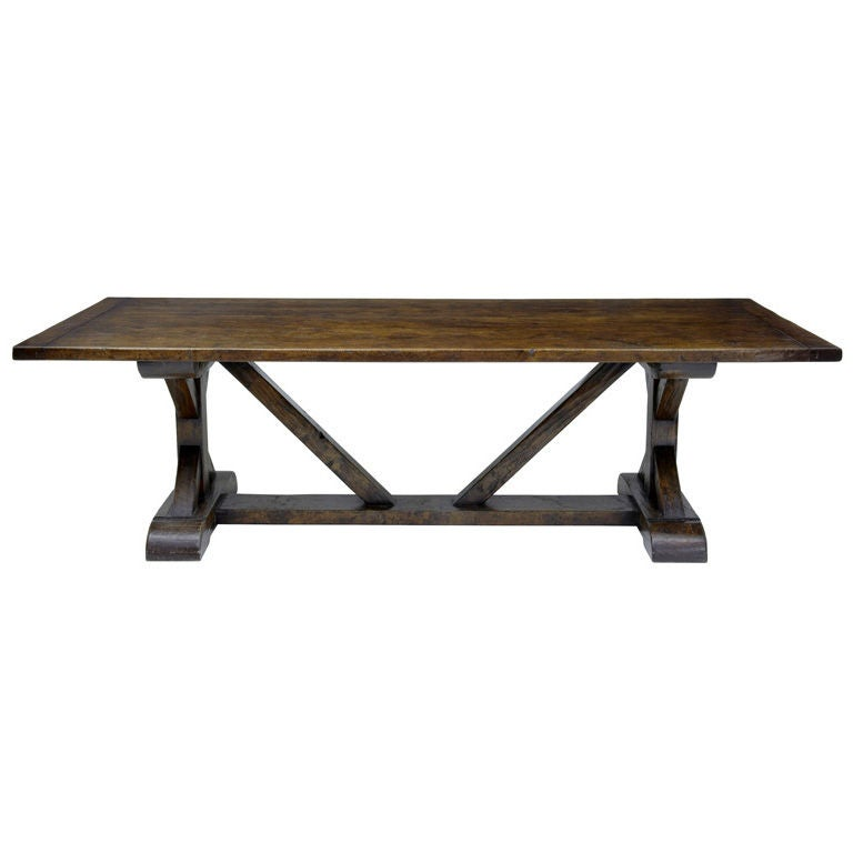 Large English Made Oak Trestle Refectory Table at 1stdibs : XXX878613220446831 from www.1stdibs.com size 768 x 768 jpeg 26kB