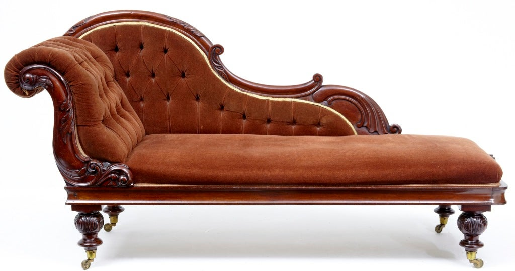 19th century antique victorian chaise lounge day bed at for Antique style chaise lounge