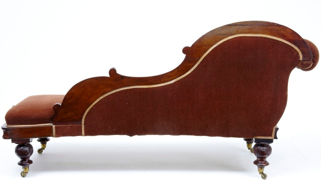 19th century antique victorian chaise lounge day bed at for Chaise antique furniture