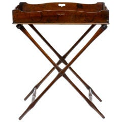 19th Century Antique Mahogany Butlers Tray On Stand