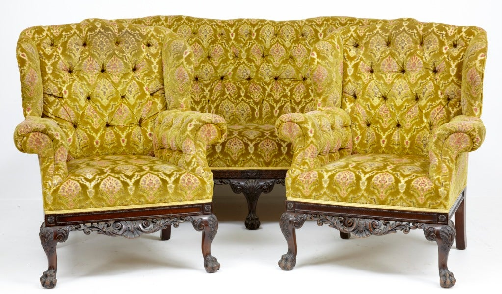 Victorian Living Chair And Couch Set For Sale
