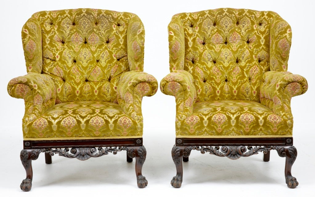 19th Century Antique Irish Chippendale Sofa And Chairs At