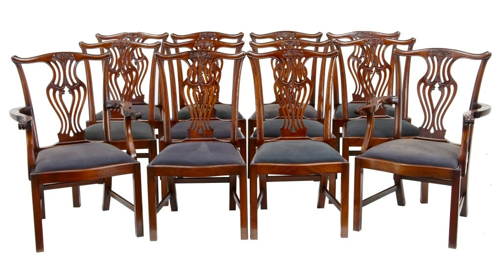 Superb Quality Mahogany Pedestal Dining Table With 10 2  : 878613455479392 from www.1stdibs.com size 1023 x 563 jpeg 105kB