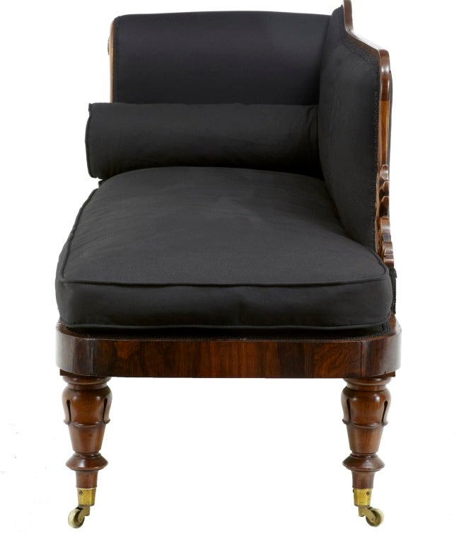 19th century william iv antique rosewood chaise lounge for Antique chaise lounge prices