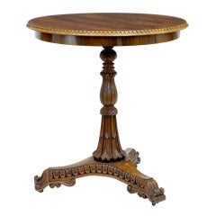 19th Century Antique Carved Regency Rosewood Occasional Table