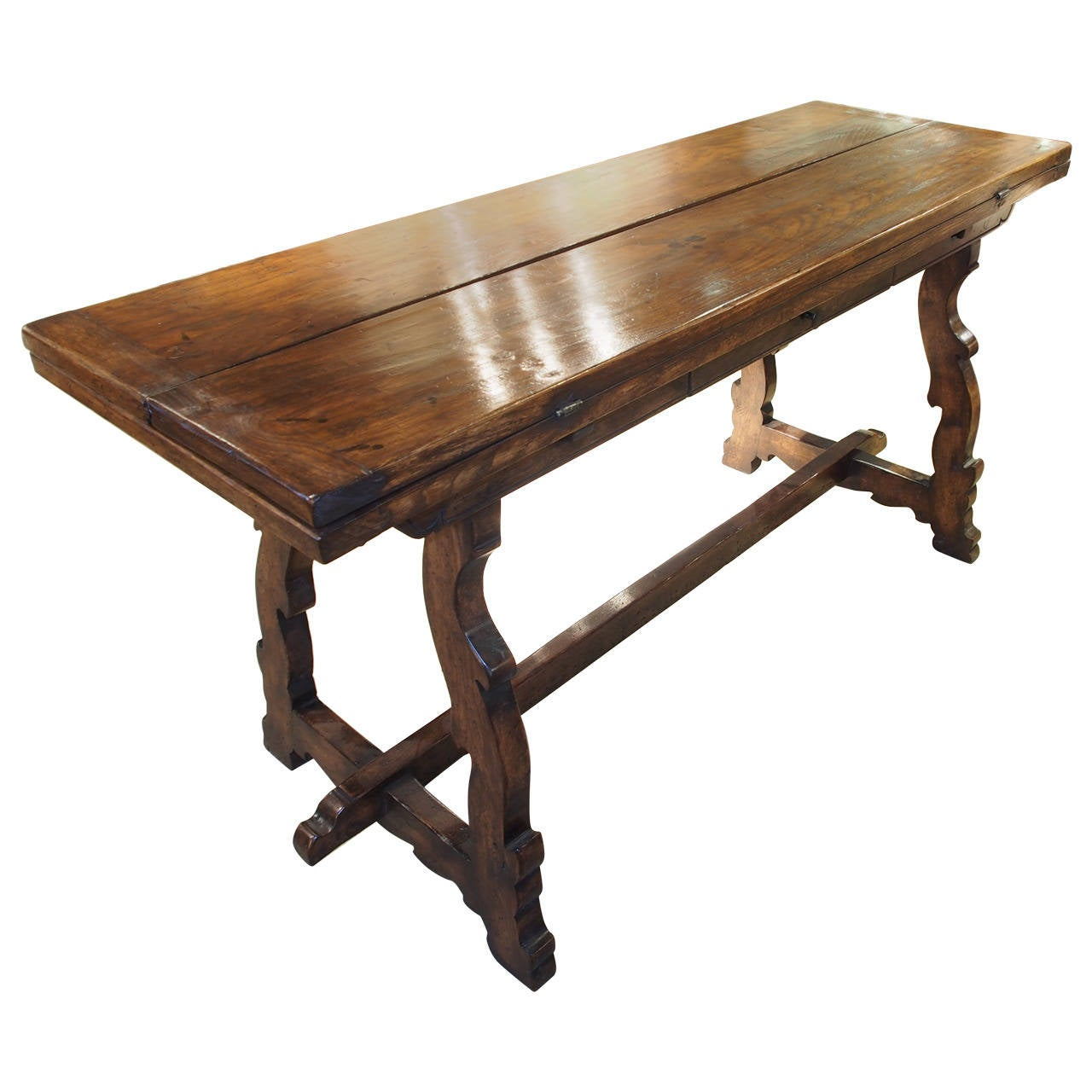 Spanish oak table with drawer circa 1950 at 1stdibs for Table in spanish