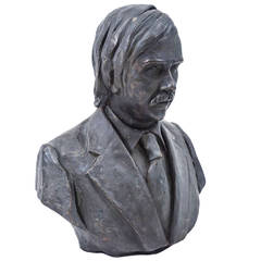 Male Bronze Bust of a Contemporary Man